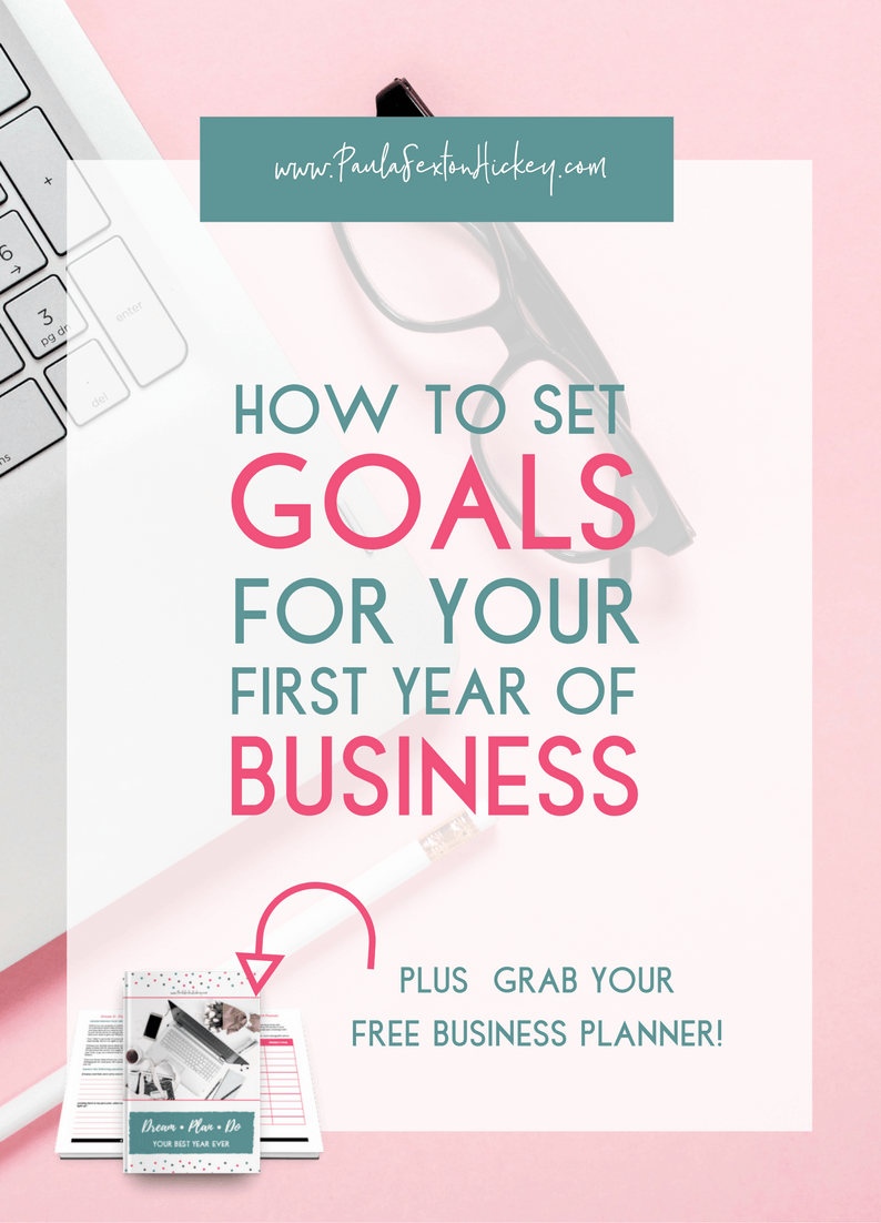 Are your struggling to create goals for your first year of business? Are you unsure of how to even start? Learn how to set goals that are effective and achievable using the SMART tool.  Plus download my free 2018 Business Planner!